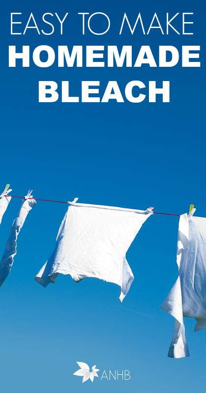Easy to Make Homemade Bleach #homemade #allnatural #diy #bleach #whiten
