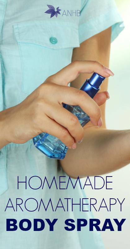 Homemade Aromatherapy Body Spray #homemade #diy #bodyspray #natuarlliving #natural