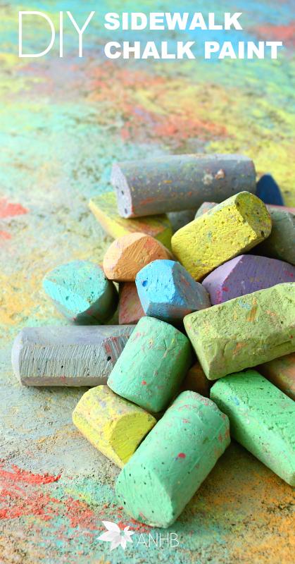 DIY Homemade Sidewalk Chalk Paint #kidactivities #diy #chalk #paint #parenting