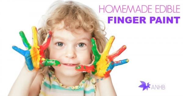 Homemade Natural Edible Finger Paint