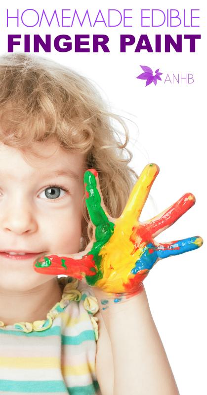 Homemade Edible Finger Paint #homemade #diy #kidsactivities #allnatural